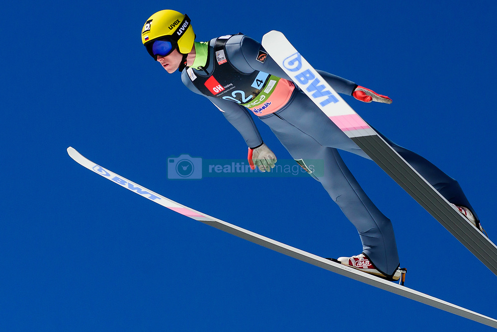 March 23, 2019 - Planica, Slovenia - Evgeniy Klimov of Russiav in action during the team competition at Planica FIS Ski Jumping World Cup finals  on March 23, 2019 in Planica, Slovenia. (Credit Image: © Rok Rakun/Pacific Press via ZUMA Wire)