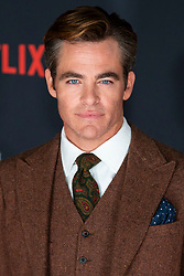 Stars attend the Scottish Premier of Netflix original, 'Outlaw King' at the Omni Centre in Edinburgh, Scotland. Outlaw King tells the untold, true story of Robert the Bruce who transforms from defeated nobleman to outlaw hero during the oppressive occupation of medieval Scotland by Edward I of England. Filmed in Scotland, Outlaw King directed by David Mackenzie and stars Chris Pine alongside Aaron Taylor-Johnson, Florence Pugh, James Cosmo and Billy Howle. 19 Oct 2018 Pictured: Chris Pine. Photo credit: Duncan McGlynn / MEGA TheMegaAgency.com +1 888 505 6342