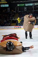 KELOWNA, CANADA - DECEMBER 2: Fans play the subway game during intermission on December 2, 2015 at Prospera Place in Kelowna, British Columbia, Canada.  (Photo by Marissa Baecker/Shoot the Breeze)  *** Local Caption *** Subway; fans;