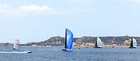 From Left to Right: J ONE, MAGIC CARPET 2, SORCERESS and NAHITA during the Rolex Maxi Cup 2017, Costa Smeralda, Porto Cervo Yacht Club Costa Smeralda (YCCS), Sardinia, Italy.