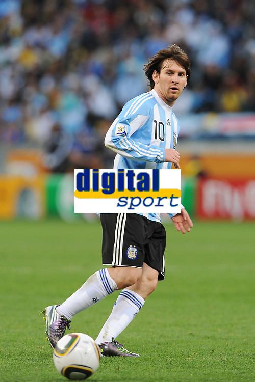 Fotball<br /> VM 2010<br /> Foto: Dppi/Digitalsport<br /> NORWAY ONLY<br /> <br /> FOOTBALL - FIFA WORLD CUP 2010 - 1/4 FINAL - ARGENTINA v TYSKLAND - 3/07/2010<br /> <br /> LIONEL MESSI (ARG)