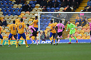 Mansfield Town forward Matt Green scores to put the Stags 2-0 up during the Sky Bet League 2 match between Mansfield Town and Northampton Town at the One Call Stadium, Mansfield, England on 28 March 2016. Photo by Jon Hobley.