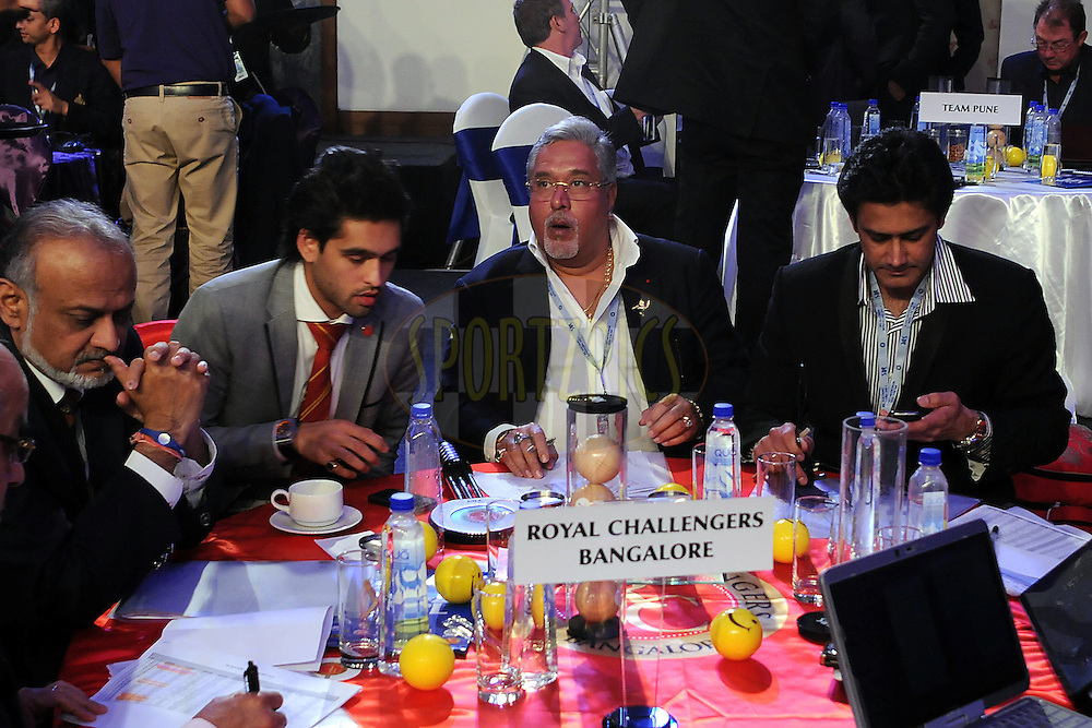 Team Royal Challengers Bangalore during the 2011 IPL (Indian Premier League ) Player Auction held in Bengaluru, Bangalore, Karnataka, India on the 8th and 9th January 2011..Photo by Pal Pillai/BCCI/SPORTZPICS