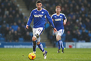 Chesterfield FC forward Lee Novak on the ball during the Sky Bet League 1 match between Chesterfield and Shrewsbury Town at the Proact stadium, Chesterfield, England on 2 January 2016. Photo by Aaron Lupton.