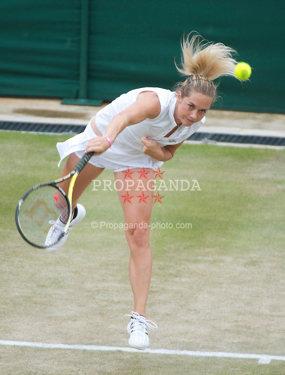 LONDON, ENGLAND - Saturday, June 25, 2011: Klara Zakopalova (CZE) in action during the Ladies' Singles 3rd Round match on day six of the Wimbledon Lawn Tennis Championships at the All England Lawn Tennis and Croquet Club. (Pic by David Rawcliffe/Propaganda)