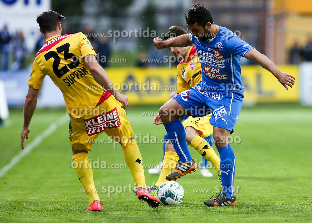 01.05.2015, Sportplatz FAC, Wien, AUT, 2. FBL, Floridsdorfer AC vs KSV 1919, 31. Runde, im Bild Gernot Suppan (KSV 1919) und Mehmet Suetcue (Floridsorfer AC) // during Austrian Football Second Bundesliga Match, 31th round, between Floridsdorfer AC and KSV 1919 at the Sportplatz FAC, Vienna, Austria on 2015/05/01. EXPA Pictures © 2015, PhotoCredit: EXPA/ Alexander Forst