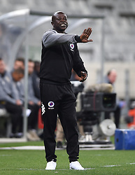 Cape Town-180804 Supersport United coach Kaitano Tembo giving instructions to his players when they played against  Cape Town City in the first game of the 2018/2019 season at Cape Town Stadium.photograph:Phando Jikelo/African News Agency/ANA