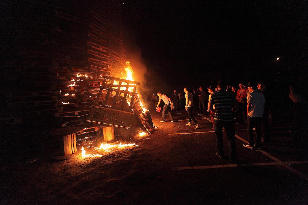 Bonfire Night on Sandy Row, Belfast 11/7/2012