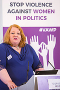 Naomi Long (Leader, Alliance Party of Northern Ireland) Session 7: THE ROLE AND RESPONSIBILITIES OF POLITICAL PARTIES IN TACKLING VIOLENCE AGAINST POLITICALLY ACTIVE WOMEN 'Violence Against Women in Politics' Conference, organised by all the UK political parties in partnership with the Westminster Foundation for Democracy, 19th and 20th of March 2018, central London, UK.  (Please credit any image use with: © Andy Aitchison / WFD