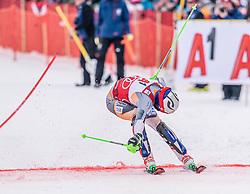 26.01.2020, Streif, Kitzbühel, AUT, FIS Weltcup Ski Alpin, Slalom, Herren, 2. Lauf, im Bild Henrik Kristoffersen (NOR) // Henrik Kristoffersen of Norway in action during his 2nd run in the men's Slalom of FIS Ski Alpine World Cup at the Streif in Kitzbühel, Austria on 2020/01/26. EXPA Pictures © 2020, PhotoCredit: EXPA/ Stefan Adelsberger