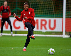 CARDIFF, WALES - Sunday, October 14, 2018: Wales' captain Ashley Williams during a training session at the Vale Resort ahead of the UEFA Nations League Group Stage League B Group 4 match between Republic of Ireland and Wales. (Pic by David Rawcliffe/Propaganda)