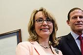 DC: Senators Blumenthal, Murphy and former congresswoman Gabby Gifford meets to call on congress to