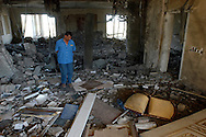 The remains of one of Saddam Hussein's luxury family compounds along the banks of the Tigris River. The palacial mansions were bombed by coalition forces and heavily looted by Iraqis..Baghdad, Iraq. 05 May 2003..Photo © J.B. Russell