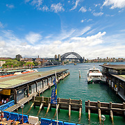 Circular Quay towards Sydney Harbour Bridge
