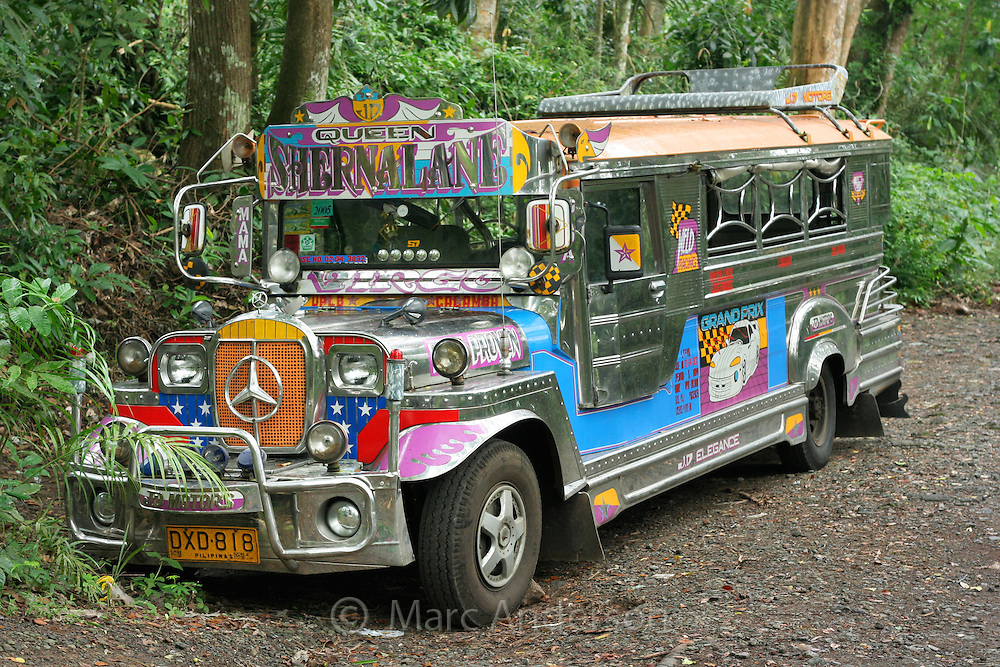A colorful jeepney, Luzon, Philippines