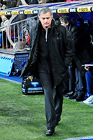 20120128: MADRID, SPAIN - Santiago bernabeu Stadium. Madrid. Spain. Football match between Real Madrid CF and  Real Zaragoza. BBVA League. In picture Jose Mourinho<br />