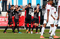 Fotball<br /> Albania v Qatar<br /> Foto: Gepa/Digitalsport<br /> NORWAY ONLY<br /> <br /> HARTBERG,AUSTRIA,29.MAY.16 - SOCCER - UEFA European Championship 2016 in France, preview, international match, Albania vs Qatar, friendly match. Image shows the rejoicing of Arlind Ajeti and Mergim Mavraj (ALB).
