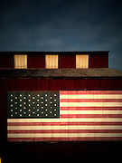 Americana.<br /> <br /> Flag on barn, Middletown, Ohio.