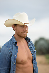 hot cowboy with an open shirt