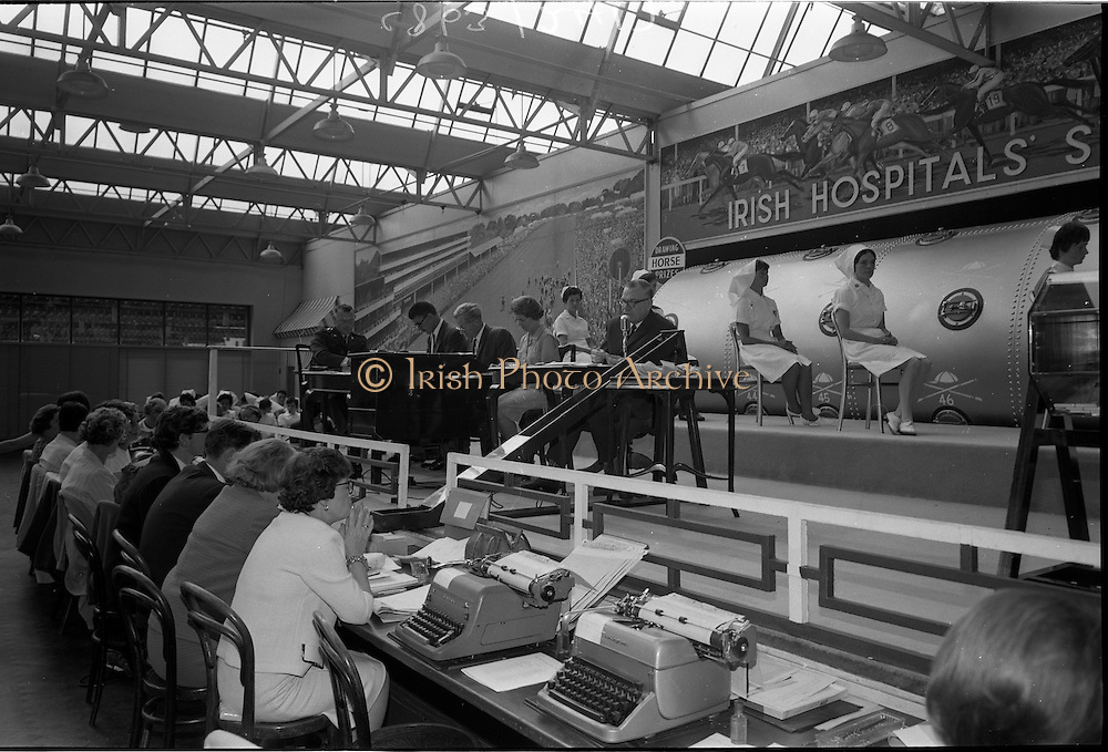 28/06/1967<br /> 06/28/1967<br /> 28 June 1967<br /> Irish Sweepstakes Derby Draw at Irish Hospital Sweepstakes office, Ballsbridge, Dublin.