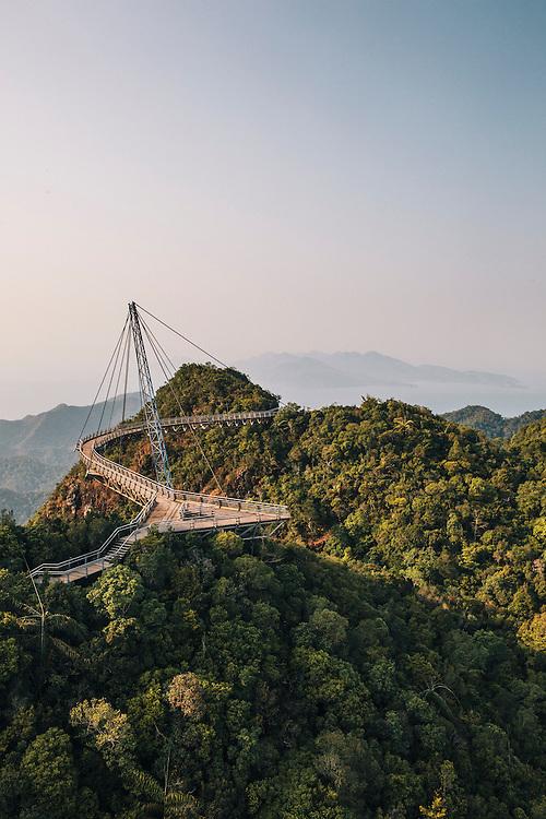 Sky bridge at the Panorama Langkawi cable car, Langkawi, Langkawi