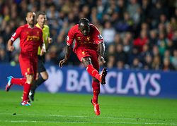 6.09.2013, Liberty Stadion, Swansea, ENG, Premier League, Swansea City vs FC Liverpool, 4. Runde, im Bild Liverpool's Victor Moses scores the second goal against Swansea City, on his debut, during the English Premier League 4th round match between Swansea City AFC and Liverpool FC at the Liberty Stadium, Swansea, Great Britain on 2013/09/16. EXPA Pictures © 2013, PhotoCredit: EXPA/ Propagandaphoto/ David Rawcliffe<br /> <br /> ***** ATTENTION - OUT OF ENG, GBR, UK *****