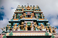 Carvings at the Kannakai Amman Temple on Punkudutivu island on the Jaffna Peninsula, Sri Lanka, Asia
