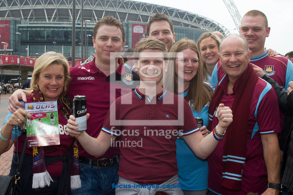 Picture by Daniel Chesterton/Focus Images Ltd. 07966 018899.19/05/12.West Ham United fans before the Npower Championship play off Final at Wembley Stadium, London.