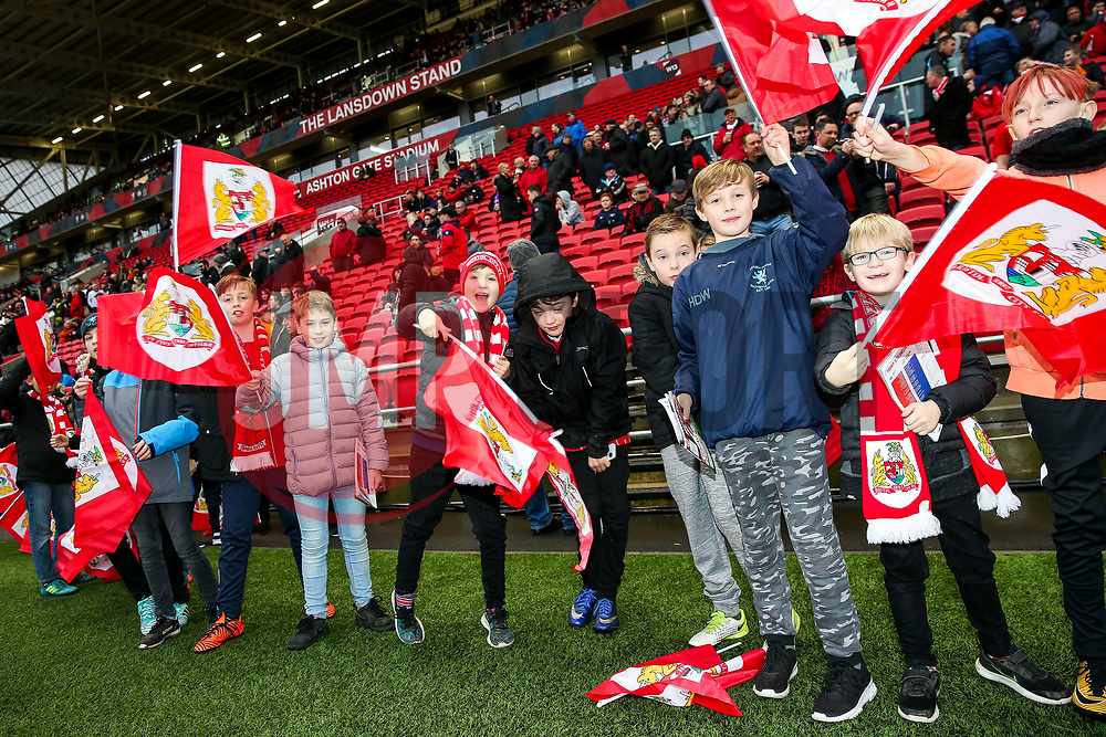 Flagbearers - Rogan/JMP - 27/01/2018 - Ashton Gate Stadium - Bristol, England - Bristol City v Queens Park Rangers - Sky Bet Championship.