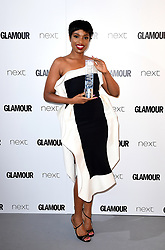 *EMBARGOED UNTIL 22:30 TUESDAY 6th JUNE 2017* Jennifer Hudson with the Trailblazer Award in the press room at the Glamour Women of the Year Awards 2017, Berkeley Square Gardens, London.
