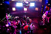 The dance floor at Badlands in Sacramento, California.