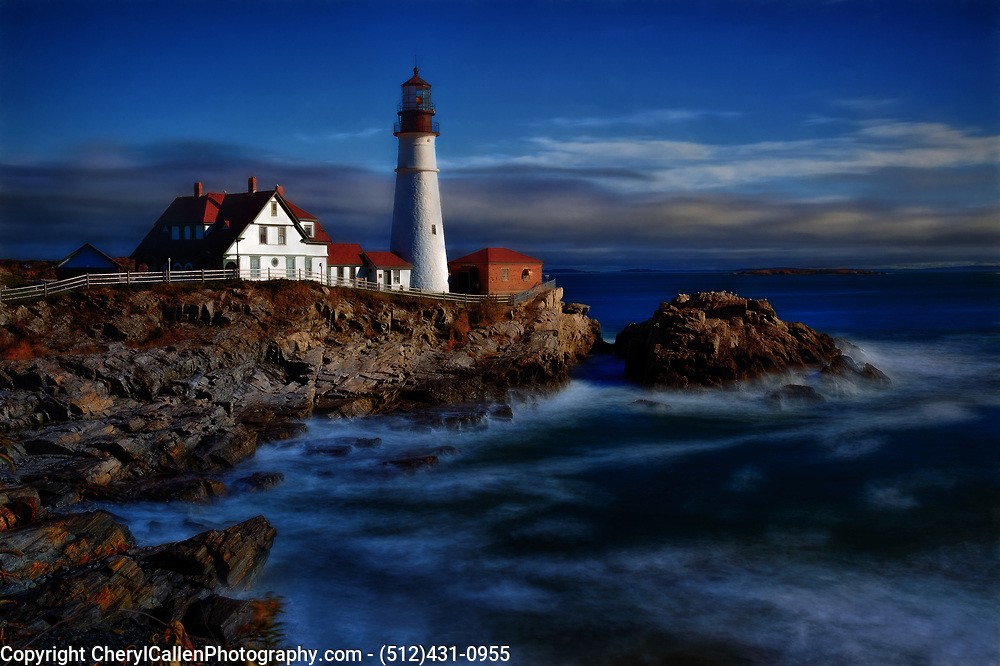Portland Head Lighthouse in Maine long exposure