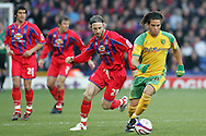 London - Tuesday, January 1st, 2008: Sean Derry (L) of Crystal Palace and Darel Russell (R) of Norwich City during the Coca Cola Championship match at Selhurst Park, London. (Pic by Mark Chapman/Focus Images)