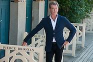 Pierce Brosnan inaugurates the beach cabin in Deauville