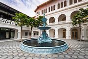 Cast iron fountain at the Raffles Hotel, Singapore, Republic of Singapore