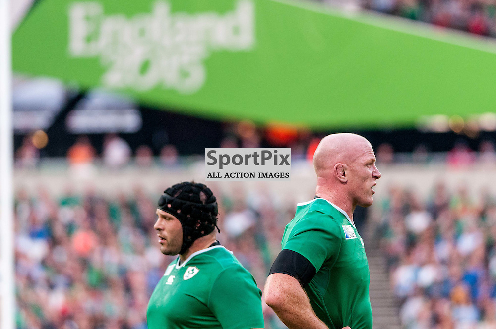 Paul O'Connell captain of Ireland. Action from the Ireland v Italy pool game at the 2015 Rugby World Cup at Queen Elizabeth Stadium in London, 4 October 2015. (c) Paul J Roberts / Sportpix.org.uk
