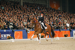 Cornelissen Adelinde (NED) - Parzival<br /> KWPN Hengstenkeuring 's Hertogenbosch 2010<br /> © Dirk Caremans