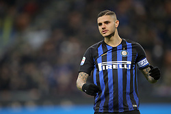 February 3, 2019 - Milan, Milan, Italy - Mauro Icardi #9 of FC Internazionale Milano during the serie A match between FC Internazionale and Bologna FC at Stadio Giuseppe Meazza on February 3, 2019 in Milan, Italy. (Credit Image: © Giuseppe Cottini/NurPhoto via ZUMA Press)