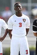 02 September 2012: NC State's Gbenga Makinde. The North Carolina State University Wolfpack defeated the Santa Clara University Broncos 2-1 at Koskinen Stadium in Durham, North Carolina in a 2012 NCAA Division I Men's Soccer game.