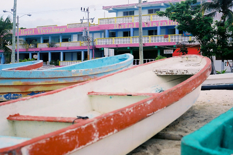 Boats on Isla Mujeres, Mexico