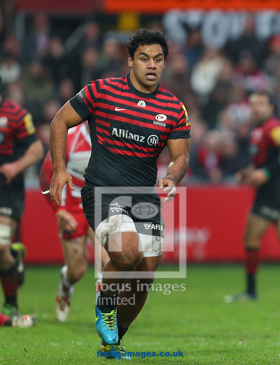 Picture by Michael Whitefoot/Focus Images Ltd 07969 898192<br /> 04/01/2014<br /> Billy Vunipola of Saracens during the Aviva Premiership match at Kingsholm Stadium , Gloucester.