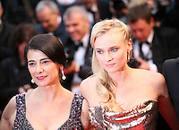 Hiam Abbass and Diane Kruger attending the gala screening of Amour at the 65th Cannes Film Festival. Sunday 20th May 2012 in Cannes Film Festival, France.