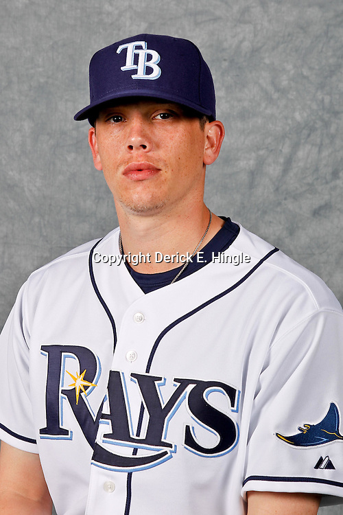 February 29, 2012; Port Charlotte, FL, USA; Tampa Bay Rays starting pitcher Jeremy Hellickson (58) poses for a portrait during photo day at Charlotte Sports Park.  Mandatory Credit: Derick E. Hingle-US PRESSWIRE