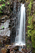 Waterfall in tropical rainforest, Panama, Central America