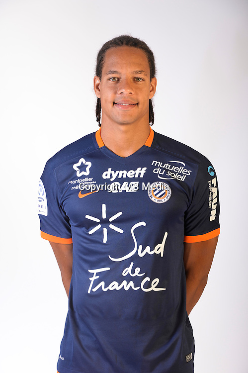 Daniel Congre during the photocall of Montpellier for new season of Ligue 1 on September 27th 2016 in Montpellier<br /> Photo : Mhsc / Icon Sport