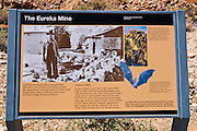 Interpretive sign at the Eureka Mine, Death Valley National Park. California