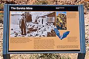 Interpretive sign at the Eureka Mine, Death Valley National Park. California