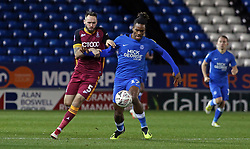 Ivan Toney of Peterborough United in action with James O'Brien of Bradford City - Mandatory by-line: Joe Dent/JMP - 01/12/2018 - FOOTBALL - ABAX Stadium - Peterborough, England - Peterborough United v Bradford City - Emirates FA Cup second round proper