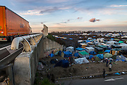 The Calais refugee camp known as 'the jungle' in January 2016.