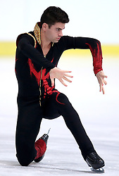 04.12.2015, Dom Sportova, Zagreb, CRO, ISU, Golden Spin of Zagreb, freies Programm, Herren, im Bild Javier Raya, Spain. // during the 48th Golden Spin of Zagreb 2015 men Free Program of ISU at the Dom Sportova in Zagreb, Croatia on 2015/12/04. EXPA Pictures © 2015, PhotoCredit: EXPA/ Pixsell/ Igor Kralj<br /> <br /> *****ATTENTION - for AUT, SLO, SUI, SWE, ITA, FRA only*****